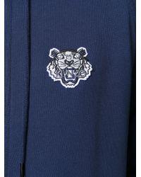 KENZO - Women's Blue Cotton Sweatshirt - Lyst