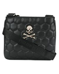 f873b4ea8e Lyst - Philipp Plein Quilted Skull Shoulder Bag in Black for Men