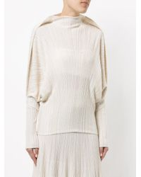 Sonia Rykiel - Natural Pleated Sweater - Lyst