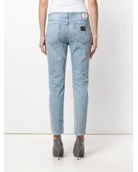 Philipp Plein - Blue Distressed Embellished Denim Jeans - Lyst