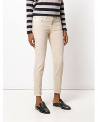 Closed - Natural Cropped Denim Jeans - Lyst