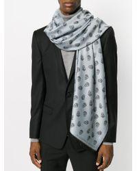 Alexander McQueen - Gray Skull Knit Scarf for Men - Lyst