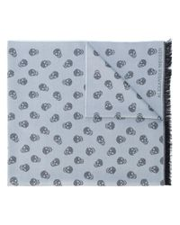 Alexander McQueen | Gray Skull Knit Scarf for Men | Lyst