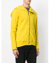 Rick Owens Drkshdw - Yellow Hooded Jacket for Men - Lyst
