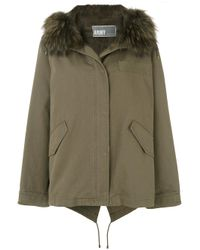 Army by Yves Salomon | Green Parka Coat | Lyst