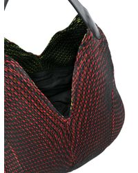 Issey Miyake - Black Pleated Shoulder Bag - Lyst