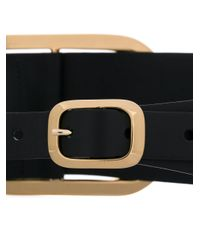 Erika Cavallini Semi Couture - Black Large Buckle Belt - Lyst