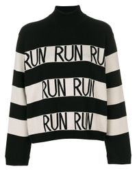 Sportmax | Black Run Striped Jumper | Lyst
