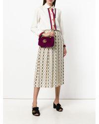 Gucci - Purple Gg Marmont Shoulder Bag - Lyst