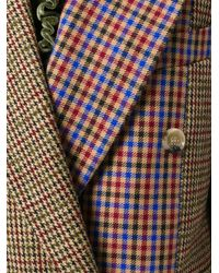 Golden Goose Deluxe Brand - Multicolor Color Block Checkered Coat - Lyst