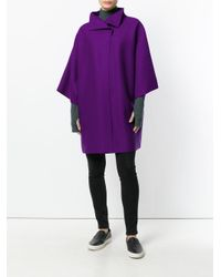 Harris Wharf London   Purple Oversized Short-sleeve Coat   Lyst