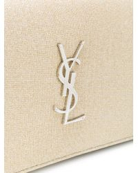 Saint Laurent - Natural Kate Chain Bag - Lyst