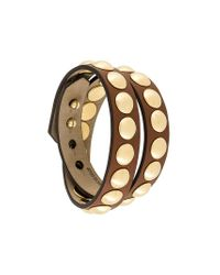 Burberry - Brown Studded Bracelet - Lyst