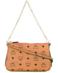 f857b38cb MCM - Logo Print Clutch - Women - Artificial Leather - One Size in ...