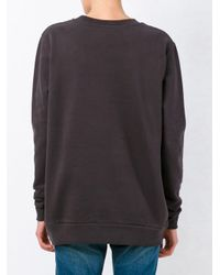 Ck Jeans - Gray Logo Print Sweatshirt - Lyst