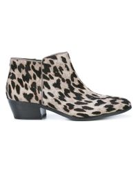 544b7f157 Lyst - Sam Edelman Low Chunky Heel Ankle Boots in Black