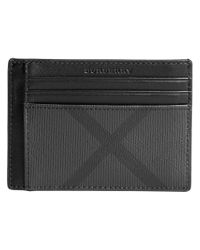 Burberry - Black London Check Cardholder for Men - Lyst