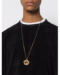 Versace - Metallic Baroque Pendant Necklace for Men - Lyst