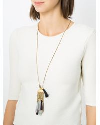 Camila Klein - Metallic Tassel Pendant Long Necklace - Lyst