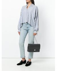 Designinverso | Black Quilted Crossbody Bag | Lyst