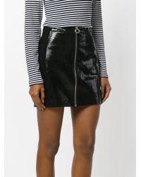 Zoe Karssen - Black A-line Zip Skirt - Lyst