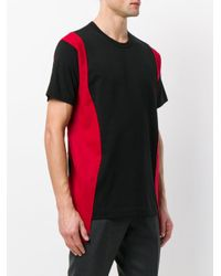 Comme des Garçons - Black Side Panel T-shirt for Men - Lyst