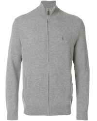 Polo Ralph Lauren - Gray Zipped Cardigan for Men - Lyst