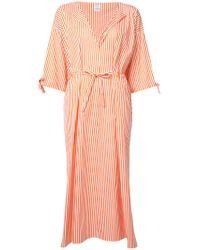 Maison Rabih Kayrouz - Orange Striped Midi Dress - Lyst