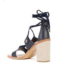 Rag & Bone - Blue Lace-up Sandals - Lyst