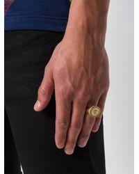Versace - Metallic Medusa Medallion Ring for Men - Lyst
