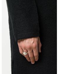 Henson - Metallic Rose Diamond Flip Ring for Men - Lyst