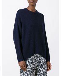 Christian Wijnants - Blue Ribbed Knit Jumper - Lyst