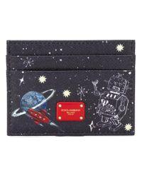 Dolce & Gabbana Blue Space Robot Card Holder