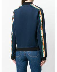 MIRA MIKATI - Blue Ribbon Embellished Zip Front Jacket - Lyst