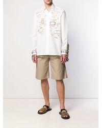 Loewe - White Embroidered Tassel Shirt for Men - Lyst