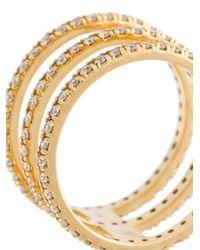 Sarah Noor - Metallic 'multi Row' Diamond Ring - Lyst