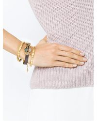 Camila Klein - Metallic Leather Trim Three-bracelet Set - Lyst