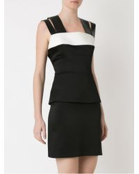 Gloria Coelho - Black Panelled Dress - Lyst