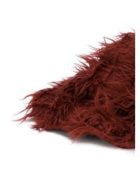 Marni - Red Furry Hat - Lyst