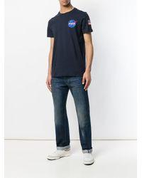 Alpha Industries - Blue Nasa Print T-shirt for Men - Lyst