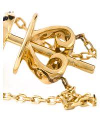 Eshvi - Metallic 'september' Earrings - Lyst