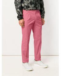 PT01 - Pink Straight-leg Trousers for Men - Lyst