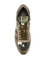 Valentino | Green Garavani Rockrunner Sneakers for Men | Lyst