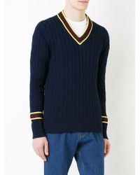 Kent & Curwen | Blue V-neck Jumper for Men | Lyst