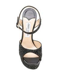 Jimmy Choo - Black Jenna 150 Sandals - Lyst