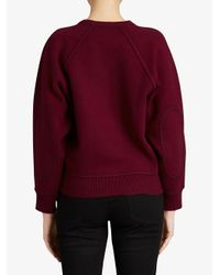 Burberry - Red Logo Printed Jumper - Lyst
