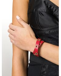 Ferragamo - Red Flower Wrap Bracelet - Lyst