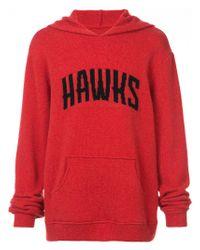 The Elder Statesman Red Hawks Hooded Sweatshirt for men