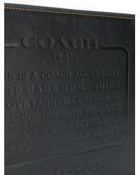 COACH - Black Storypatch Pouch Bag for Men - Lyst