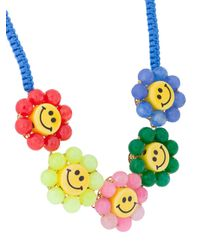 Venessa Arizaga - Blue Smiley Flowers Necklace - Lyst